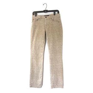 Lauren Ralph Lauren Snake Print Beige Denim Jeans